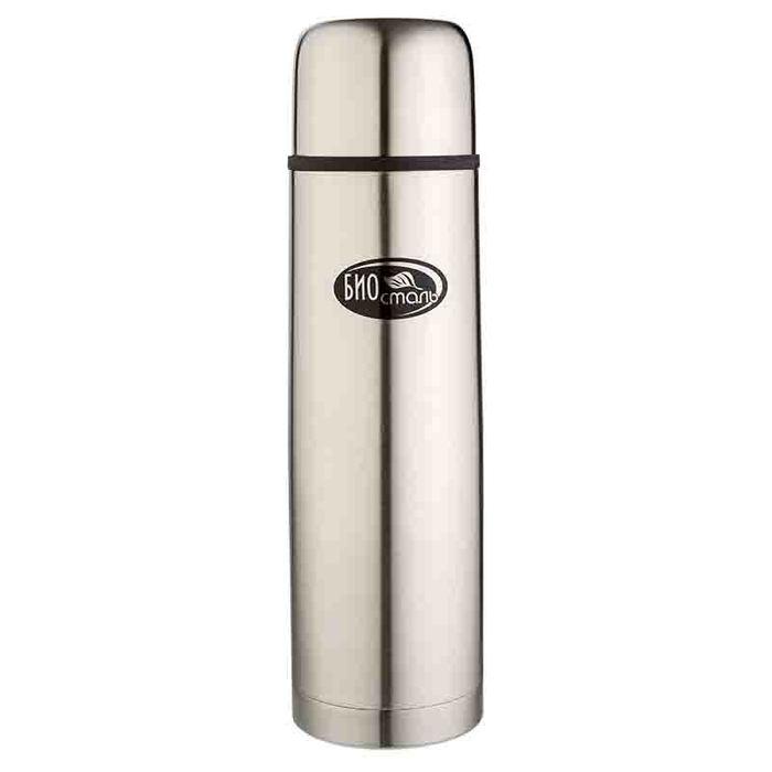 Biostal (1 литр) 2 пробки (стальной) термос