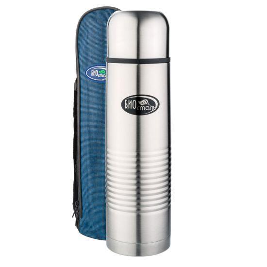 Biostal (1 литр) в чехле (стальной) термос