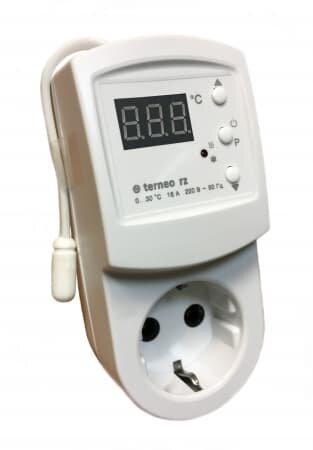 ПИОН в розетку Terneo rz терморегулятор