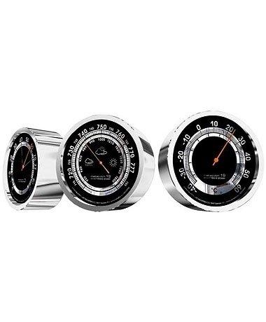 Rst 07819 с термометром металлический барометр