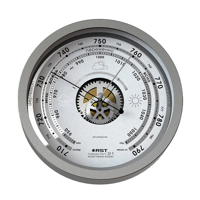 Rst 07821 металлический атмосферный барометр