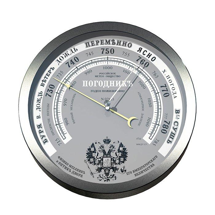 Rst 07835 старниный металлический барометр